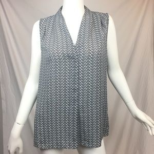 laundry by Shelli Segal M fan print sleeveless top